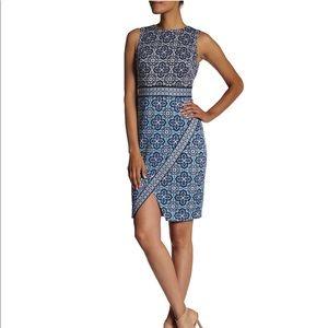Maggy London Mosaic Shift Dress Scuba Sleeveless